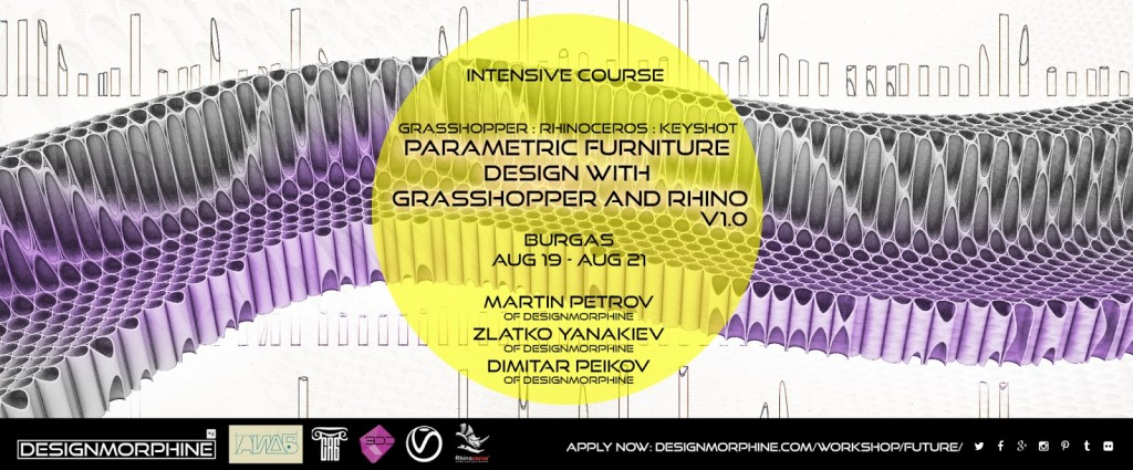 PARAMETRIC FURNITURE DESIGN WITH GRASSHOPPER AND RHINO V1.0_Poster