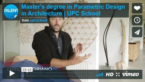 Master's degree in parametric design